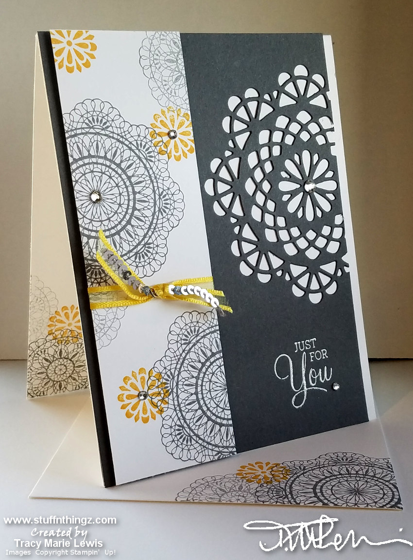 Dear Doily Gray & Curry Avid Crafter Card | Tracy Marie Lewis | www.stuffnthingz.com