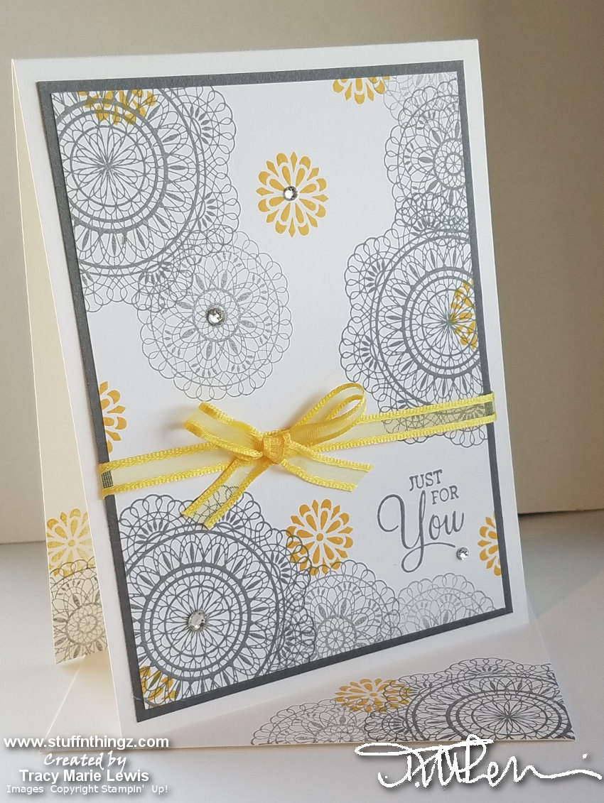 Dear Doily Gray & Curry Casual Crafter Card | Tracy Marie Lewis | www.stuffnthingz.com