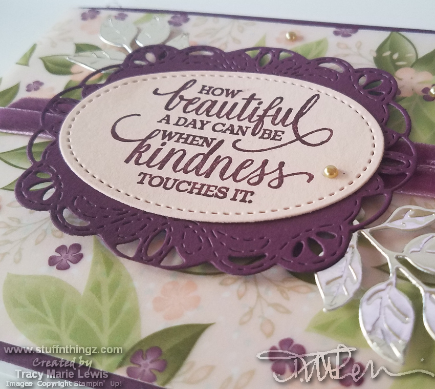 Floral Vellum Kindness Card Close Up | Tracy Marie Lewis | www.stuffnthingz.com