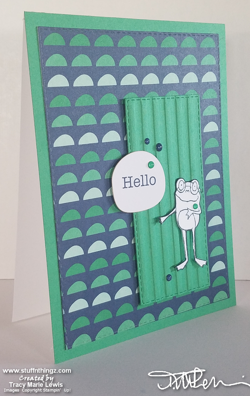 SAB Hello Studious Frog Card | Tracy Marie Lewis | www.stuffnthingz.com