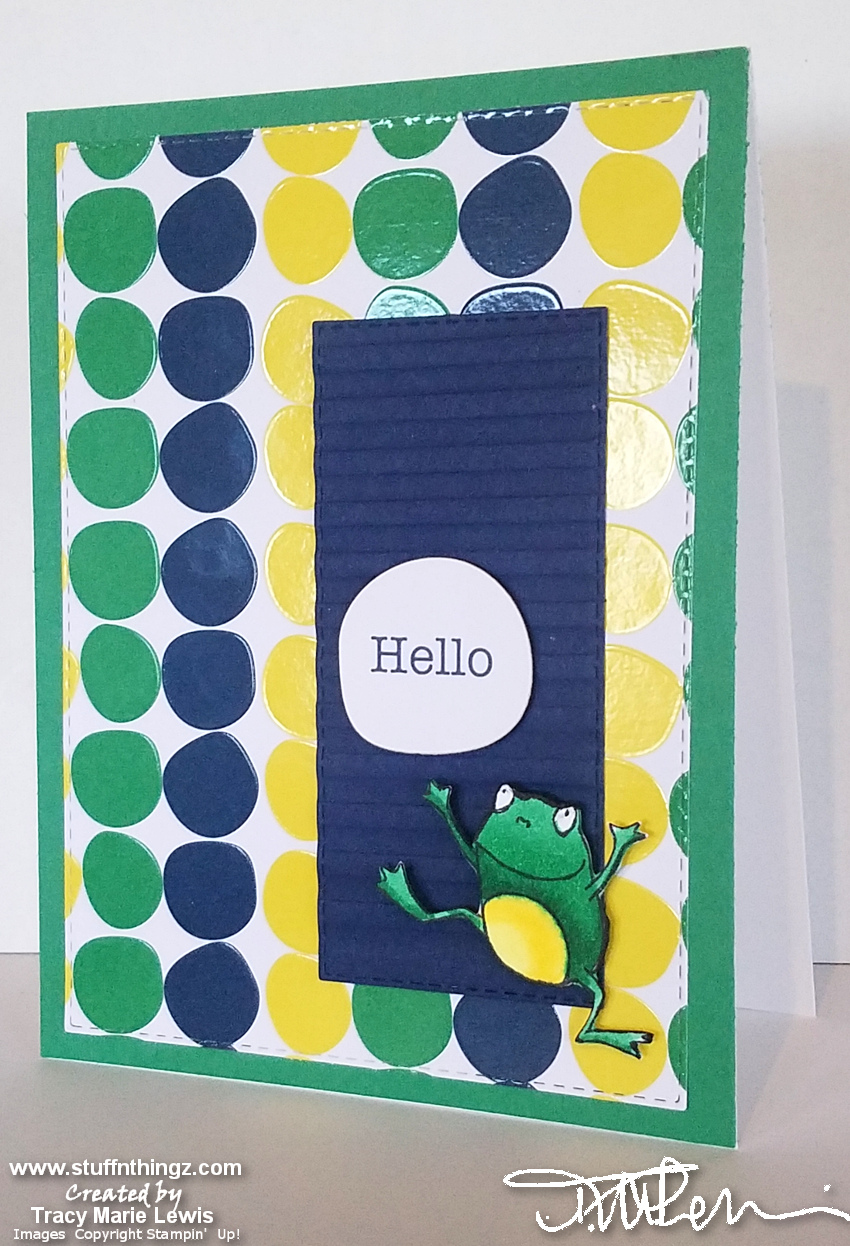 SAB Hello Frog Card | Tracy Marie Lewis | www.stuffnthingz.com