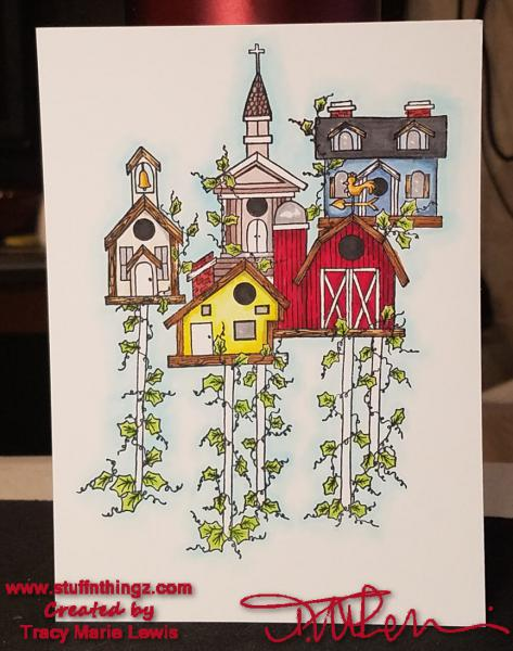 The Birdhouse Community Card | Tracy Marie Lewis | www.stuffnthingz.com
