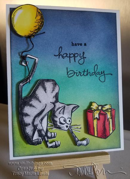 Crazy Cat Birthday Yellow Balloon | www.stuffnthingz.com