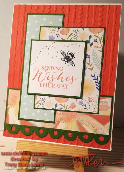 Color Challenge Wishes With Bee Card | Tracy Marie Lewis | www.stuffnthingz.com