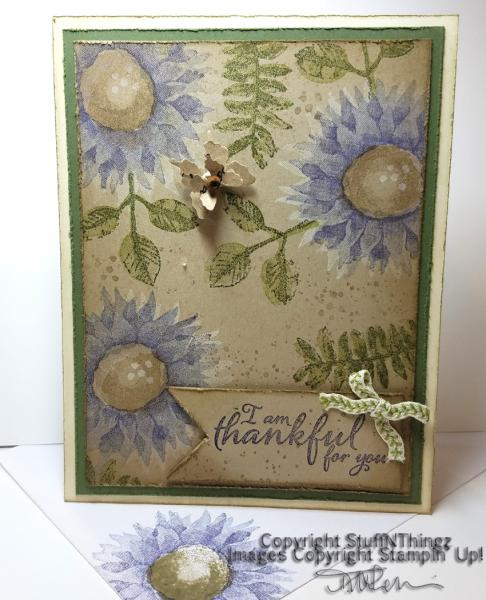 Thankful Painted Harvest Card | Tracy Marie Lewis | www.stuffnthingz.com