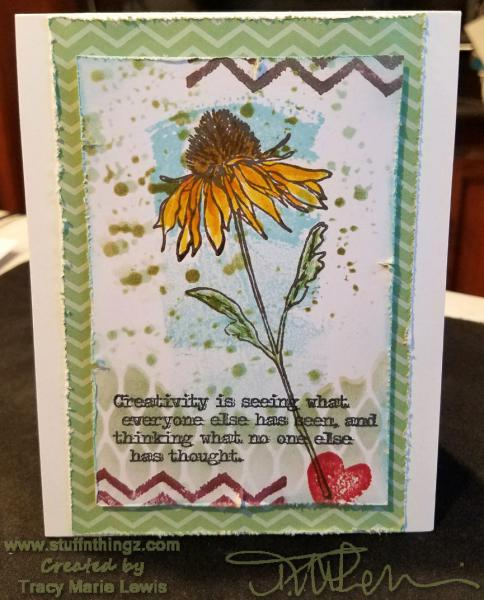 Holtz Coneflower Creativity Card | Tracy Marie Lewis | www.stuffnthingz.com