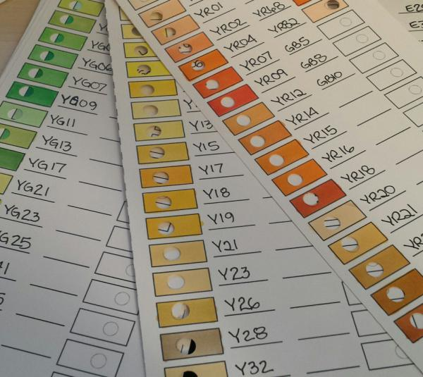 DIY Copic Color Matching Chart  | www.stuffnthingz.com