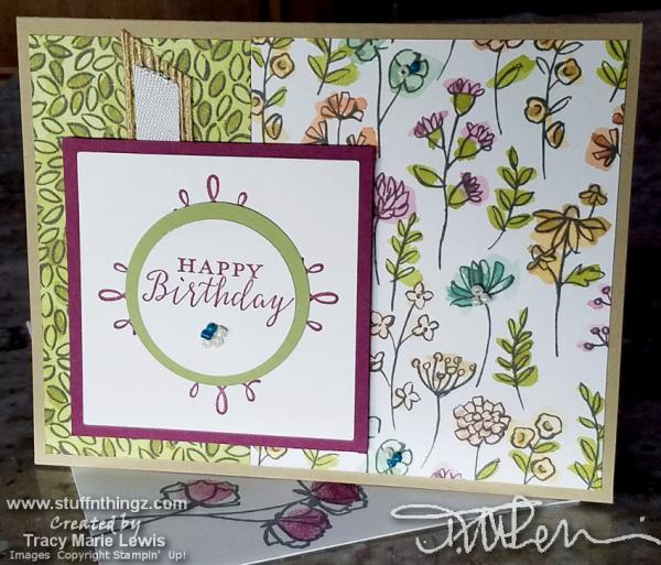 Happy Birthday Mix It Up Card | Tracy Marie Lewis | www.stuffnthingz.com