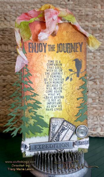 Enjoy the Journey Holtz Tag | Tracy Marie Lewis | www.stuffnthingz.com