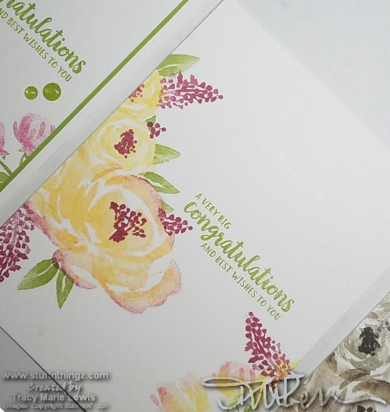 How To Video - Floral Congrats Card | Tracy Marie Lewis | www.stuffnthingz.com