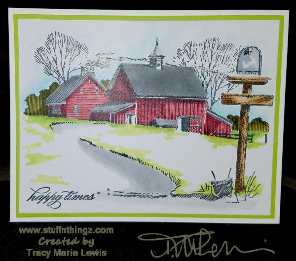 Happy Times Farm Card | Tracy Marie Lewis | www.stuffnthingz.com