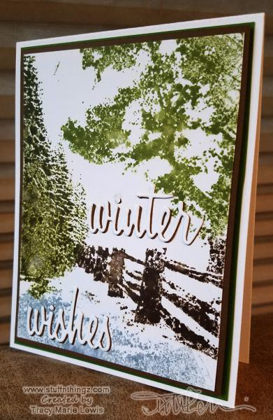 Winter Wishes - Snowy Lane | Tracy Marie Lewis | www.stuffnthingz.com