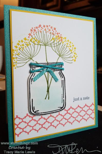 Jar Of Flowers Note Card | Tracy Marie Lewis | www.stuffnthingz.com