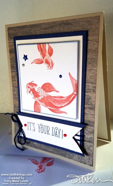 Colorful Koi - Its your day Card | Tracy Marie Lewis | www.stuffnthingz.com