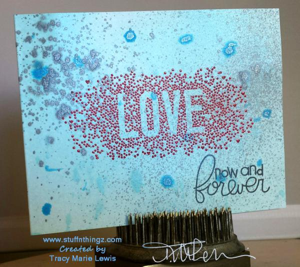 Love Now and Forever Card | Tracy Marie Lewis | www.stuffnthingz.com