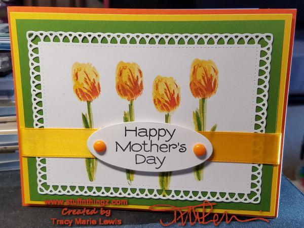 Tulips Mother's Day Card | Tracy Marie Lewis | www.stuffnthingz.com