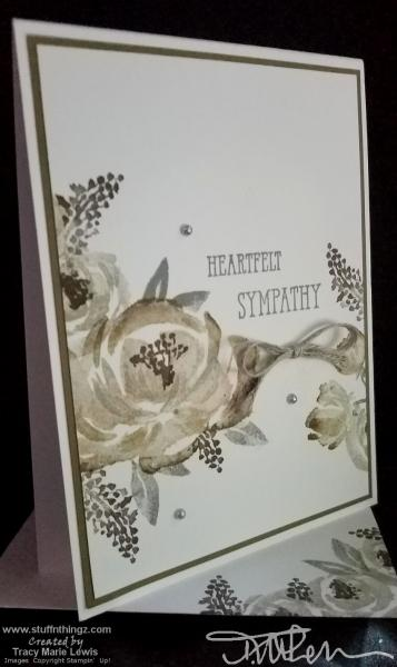 Neutral Roses Sympathy Card | Tracy Marie Lewis | www.stuffnthingz.com