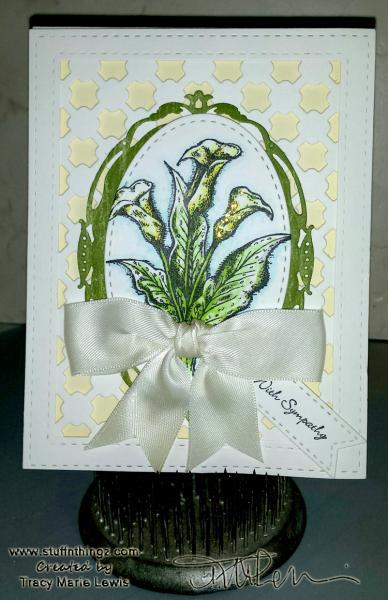 ODBDSLC268 - Calla Lily Sympathy Card