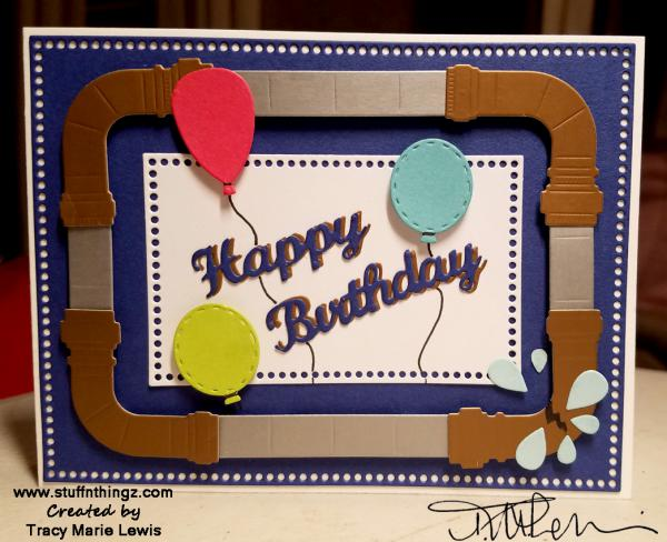 Perfect Plumber's Birthday| Card | Tracy Marie Lewis | www.stuffnthingz.com