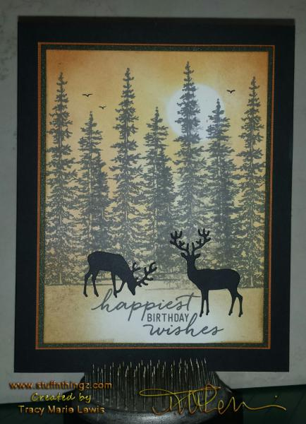Deer In The Forest Card | Tracy Marie Lewis | www.stuffnthingz.com