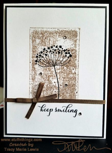 Black and Tan Keep Smiling Card | Tracy Marie Lewis | www.stuffnthingz.com