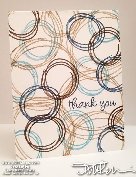 Swirly Masculine Thank You Card | Tracy Marie Lewis | www.stuffnthingz.com