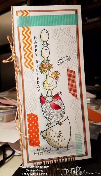 Tall Chicks Birthday Card | Tracy Marie Lewis | www.stuffnthingz.com