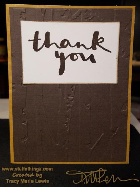 Nine Thank You Cards | Tracy Marie Lewis | www.stuffnthingz.com