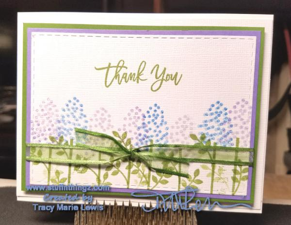Thoughtful Branches Thank You Card | Tracy Marie Lewis | www.stuffnthingz.com