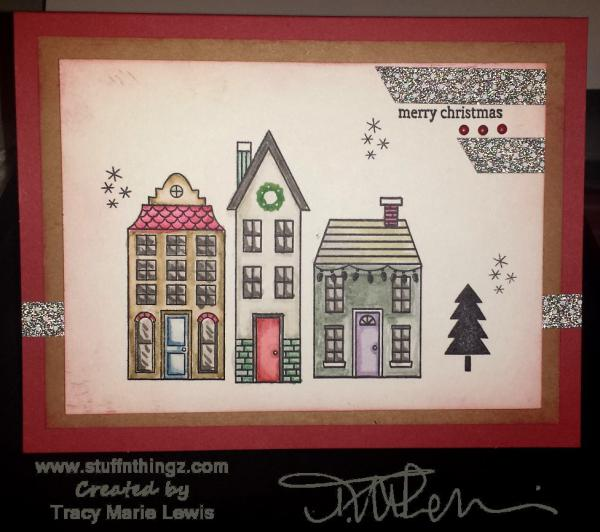 Three Houses Christmas Card