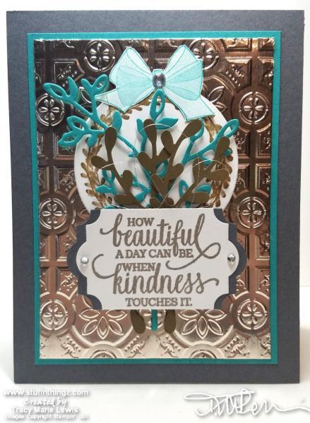 Sneak Peek - Holiday Catalog - Kindness Card | Tracy Marie Lewis | www.stuffnthingz.com