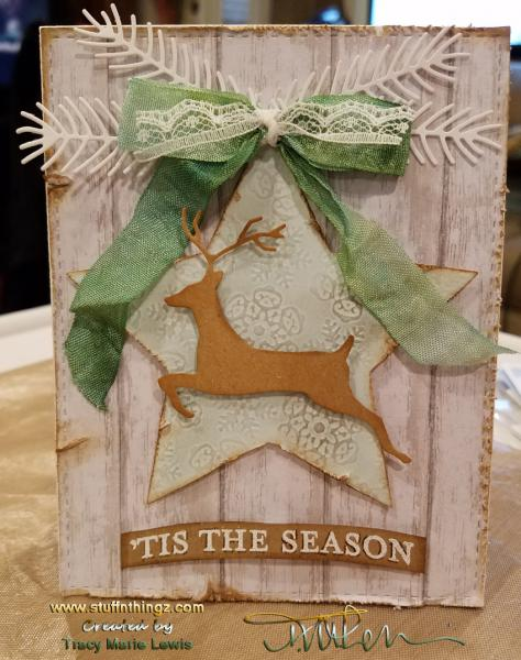 Tis the Season Leaping Deer Card | Tracy Marie Lewis | www.stuffnthingz.com
