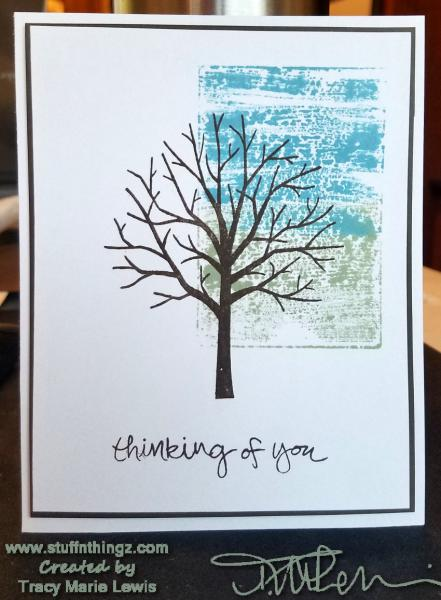 Thinking Of You Tree Watercolor Card | Tracy Marie Lewis an independent Stampin' Up demonstrator