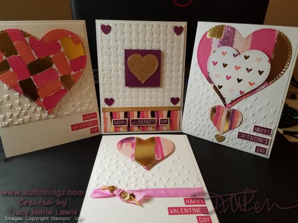 Valentine's Cards 2018 - Painted With Love | Tracy Marie Lewis | www.stuffnthingz.com