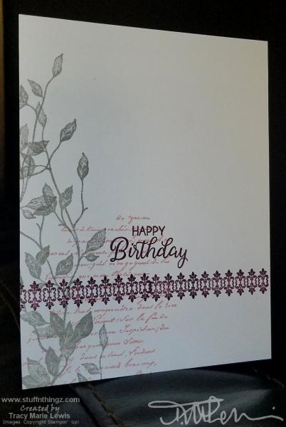 Gray And BlackBerry Birthday Card Two Ways   Tracy Marie Lewis   www.stuffnthingz.com