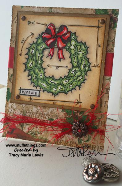 Holtz Wreath Blueprint Card