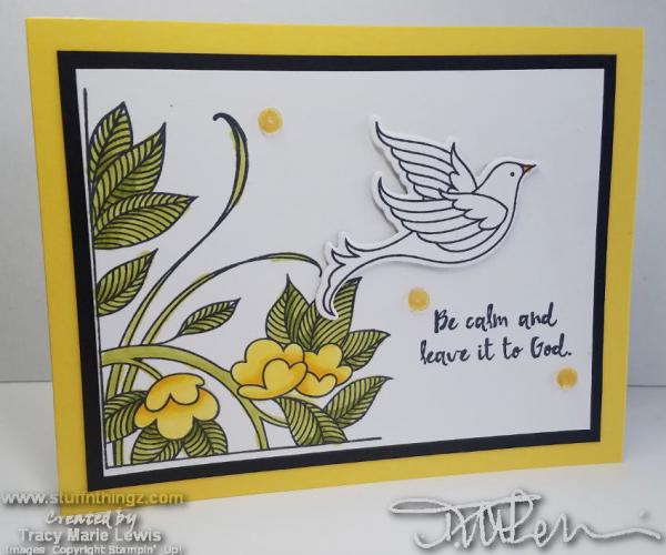 Serene Dove Card | Tracy Marie Lewis | www.stuffnthingz.com