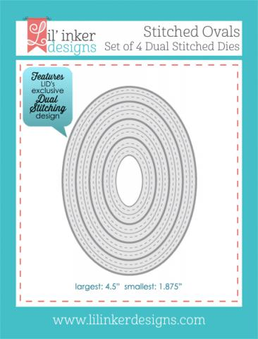 Lil' Inkers Dual Stitched Ovals  | Tracy Marie Lewis | www.stuffnthingz.com