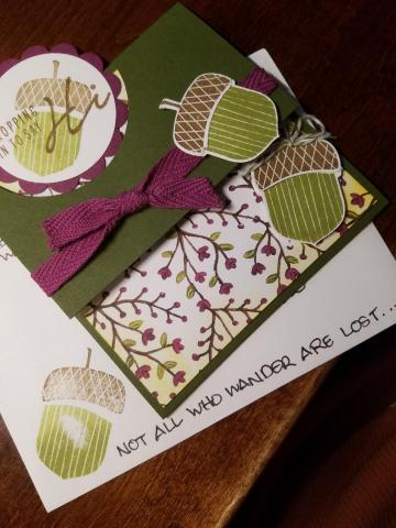 Hi Card I Sent To A Fellow Cardmaker | Tracy Marie Lewis | www.stuffnthingz.com