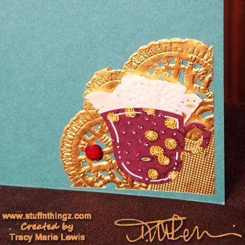 Tea Cup Celebrate Card Inside | Tracy Marie Lewis | www.stuffnthingz.com