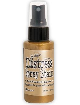 Holtz Distress Paint Spray - Tarnished Brass | Tracy Marie Lewis | www.stuffnthingz.com