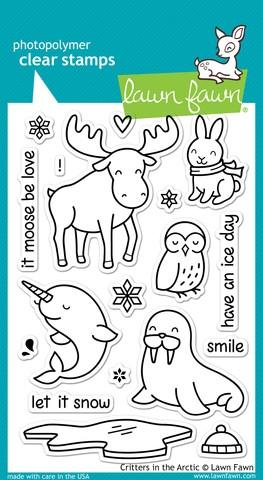Lawn Fawn Critters in the Arctic Stamp Set | www.stuffnthingz.com