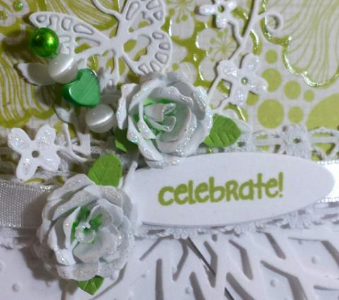 Lime Celebrate Party Card - Tracy Marie Lewis - www.stuffnthingz.com