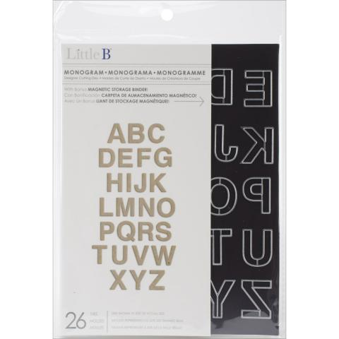 Little B Monogram Die Set  | Tracy Marie Lewis | www.stuffnthingz.com