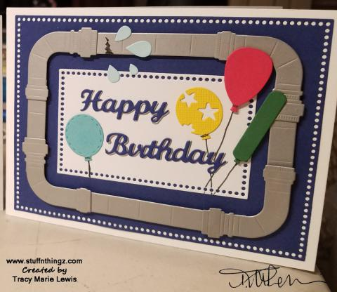 Plumbing Birthday Steel Pipes Card | Tracy Marie Lewis | www.stuffnthingz.com
