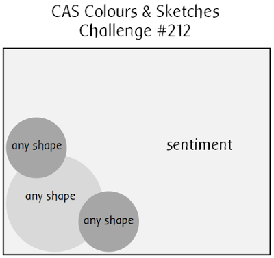 CAS Colours & Sketch Challenges Sketch #212 | www.stuffnthingz.com