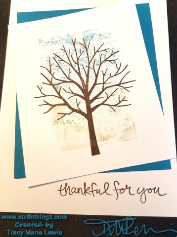 Tree Block Two | Tracy Marie Lewis an independent Stampin' Up demonstrator