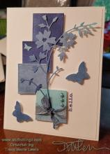Blue Ombre CASEd Floral Card | Tracy Marie Lewis | www.stuffnthingz.com