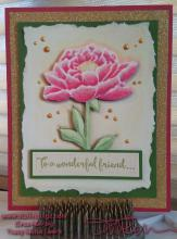 Pink And Gold Flower Card | Tracy marie Lewis | www.stuffnthingz.com