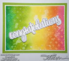 #66 Color Challenge Congratulations Card \ Tracy Marie Lewis | www.stuffnthingz.com